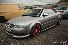 Great image of the barge at the Bristol Sweetshop meet. Photo credit: MDB images #audi #a4 #cabrio #slammed #bentley #a4cabriolet #a4cab #vw #vag #equinox #low #static #eclective #colour #20s #tucked #poke #stretch @audia4s4b6 @audia4_fanpage @audi @fastcarmagazine @d_m_vags @stancewheels @stanceworks @staystanced