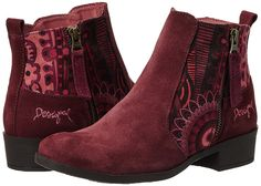 Desigual SHOES NATALIA 13, 57AS6N0 Fall Shoes, Fall Winter 2015, Chelsea Boots, Booty, Ankle, Fashion, Zapatos, Red, Shopping
