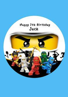 Ninjago Ninja personalisiert Cake Topper von FabulousCakeToppers Birthday Cake Toppers, Birthday Cupcakes, Ninjago Party, Lego Ninjago, Happy 7th Birthday, Ninja Birthday, Birthday Party Snacks, Personalized Cake Toppers, Wafer Paper