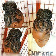 Feed In Braids w/Bun #Hairbylarose #Hairstylist #Stylist #Rockford #Weave #Weaves #Braid #Braids #Braidlife #feedinbraids #feederbraids   #BoxBraids #Frenchbraids #Kidsbraids #naturalhair #protectivestyle #protectivestyles  #bobboxbraids   FACEBOOK: Www.facebook.com/hairbylarose   Booking Site: https://www.vagaro.com/Hairbylarose  Text: (815) 505-0335