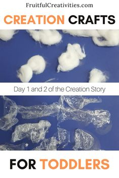 The creation story is a great way to start teaching your little one about God. Every day we're surrounded by His nature, offering a daily reminder of His greatness.This creativity is the first of our creation crafts for toddlers. It covers the very beginning of creation: day 1 and 2. #christiancrafts #christiankids #creationstory #christianparenting Preschool Painting, Preschool Art Activities, Indoor Activities For Kids, Toddler Activities, Preschool Lessons, Preschool Classroom, Creation Bible Crafts, Creation Activities, Bible Crafts For Kids