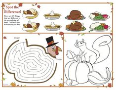 Free #Thanksgiving Placemat for Kids