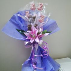 Chocolate hand bouquet