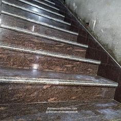 Staircase design marble work on stairs by dhiman construction work New Staircase, Staircase Design, Simple House Design, House Map, House Elevation, House Front, Granite, House Plans, Marble