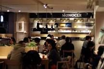 the monocle cafe in Ginza, Tokyo - breakfast and lunch served