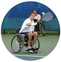 Adaptive tennis - Learn more about adaptive sports and Disabled Sports USA at www.dsusa.org