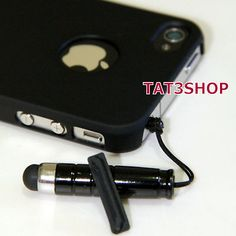 Ultra Thin Rubber Matte Hard Case /w Stylus & Anti-dust Plug For iPhone 4S 4G 4