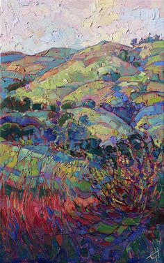 "Erin Hanson's ""Wine Country Hills"""