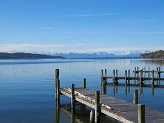 Starnberger-See-Panorama-Alpen-Zugspitze-Fruehling-Stege by Starnberger Fünf-Seen-Land, via Flickr