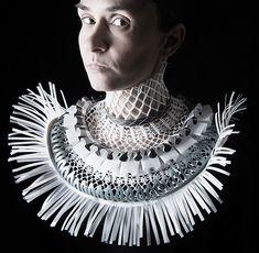Johanna Törnqvist Necklace: Vingklippt, 2014 Recycled material