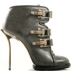 Bally buckled leather ankle boot
