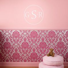 Today I went to Lowes looking for wall paper. We have a chair rail in the nursery and I totally want patterned wall paper in there. Similar to this.