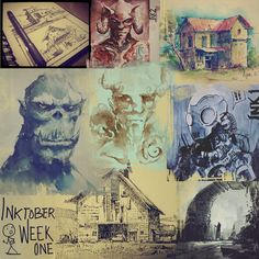 ArtStation - Inktober week one!, Ayan Nag