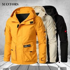 Multi Pockets Jackets Men's Military Mountain Hiking Windproof Coats Plus Siz zipperMen's Zipper Closure Polyester Hooded JacketsLining Material: PolyesterBrand Name: PolyesterPattern Type: SolidSize: S-5XL Man Jacket, Plus Size Sale, Mountain Hiking, Men's Jackets, Windbreaker, Raincoat, Military, Closure, Coats