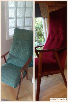 Nytt stoff på gammel stol
