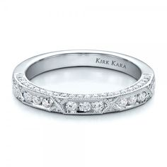 Diamond Channel Set Band with Matching Engagement Ring - Kirk Kara (Anniversary Ring)
