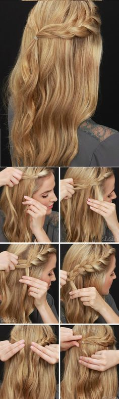How-To: { Half-Up Braided Hair Tutorial }