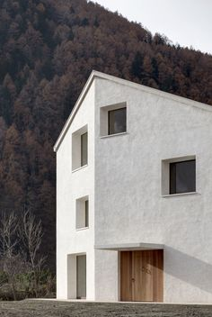 Pedevilla Architects, Bruneck, Wohnhaus am Mühlbach in Taufers, Südtirol, Italien, 2014, Ansicht Außenraum, Foto Gustav Willeit