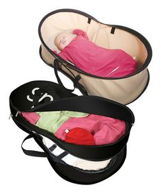 Take a look at this phil Beige Nest Portable Bassinet & Bag Set by phil on #zulily today!