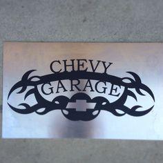 Chevy Garage 14 ga mild steel.