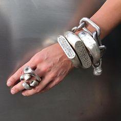 ELUP4 pave diamond #romanbracelets, Diamond U rings, band bracelet and infinity bracelet all matte sterling #partsof4 #newarrivals #elubycn @elu_official @elubycn_sanfrancisco