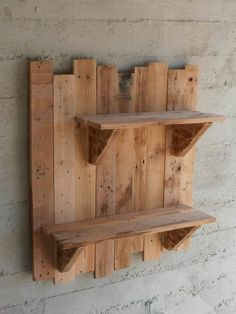 Outdoor Pallet Projects pallet home decor pallet garden pallet outdoor project diy pallet ideas with Shelves Planter pallet - Pallet wall shelves made with repurposed pallets. They can be used as flower pots bases for a vintage garden or … Pallet Wall Shelves, Pallet Walls, Rustic Shelves, Decorative Shelves, Book Shelves, Kitchen Shelves, Large Shelves, Wooden Shelves, Palet Shelf