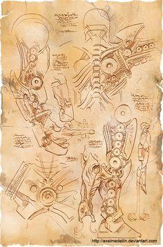 Se Leonardo Da Vinci tivesse criado a armadura do Homem de Ferro, ela seria assim
