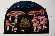 The Teeny Tiny Hounds of Fly Agaric Cottage – x Tamsin Abbott, stained glass artist. Glass Artwork, Glass Painting, Stained Glass Paint, Illustration Design, Art, Artsy, Glass Art Projects, Prints, Sgraffito