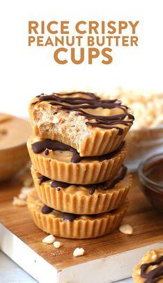 Crunchy Rice Crispy Peanut Butter Cups {Video}