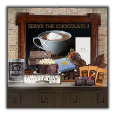 """Serve the chocolate!"" by eco-art ❤ liked on Polyvore featuring interior, interiors, interior design, home, home decor, interior decorating, Crate and Barrel, James Martin Furniture, Improvements and Artisan Du Chocolat"
