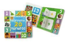 """""""Os Primeiros 20 Números"""" é um livro com abas que levantam e páginas resistentes e fáceis de manusear. É um auxiliar na aprendizagem da criança enquanto conhece e conta os números até 20. Ideal para crianças curiosas e pais atentos!"""