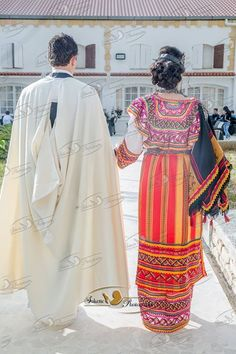Berber couple with their traditional   Dresses . North Africa. Algeria