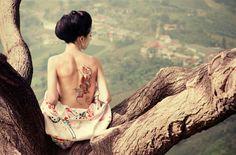 gorgeous Asian snake tattoo