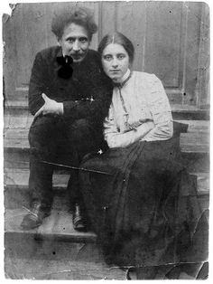 Lithuanian painter and composer Mikalojus Konstantinas Ciurlionis with his future wife Sofija Kymantaite in 1908//