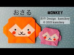 Easy Origami Little Monkey 简单折纸 小猴子 - YouTube