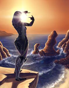 Mass Effect 3 - Rannoch by ~veter-vetrennij on deviantART Tali Mass Effect, Mass Effect Games, Tortola British Virgin Islands, Mass Effect Universe, Dragon Age, Game Art, Video Game, Sci Fi, Nerd