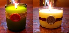 Wine & Cork: {DIY} Recycled Wine Bottle Candles