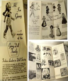 Vogue Ginny Doll Hard Plastic Paper Catalog Id Clothes Types Vintage 1950 1960