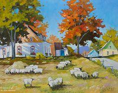 Louise Martineau, 'Par une belle journée d'automne', 24'' x 30'' | Galerie d'art - Au P'tit Bonheur - Art Gallery
