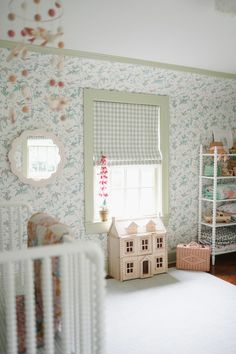 Nursery Inspiration, Home Decor Inspiration, Nursery Ideas, Twin Beds For Boys, Big Girl Rooms, Kids Rooms, Peaceful Bedroom, Nursery Wallpaper, Cole And Son