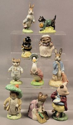 """Royal Albert pottery """"Beatrix Potter"""" figures...Would luv a set of these"""