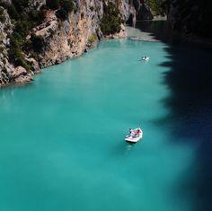 Blue water in Du Verdon, South of France.