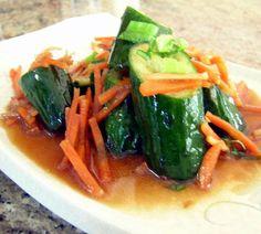 Japanese Pounded Cucumber salad - shojin ryori