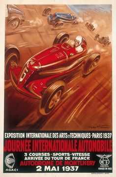 Journée Internationale Automobile - Exposition internationale des arts et techniques - Paris - 1937 - (Geo Ham) -