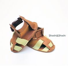 Leather Baby Sandals Sewing Pattern