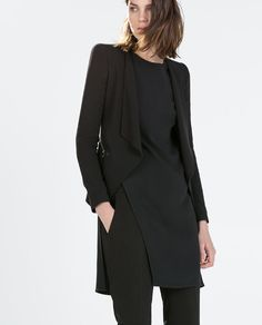 ZARA - WOMAN - BLAZER WITH DRAPED FRONT AND ZIPS
