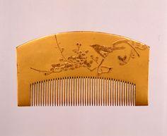 梅鶯蒔絵櫛 江戸時代 19世紀 サントリー美術館