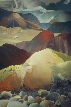 Up from the Valley Floor oil on canvas Randall David Tipton