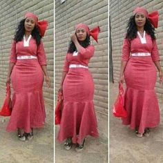 Sotho Of Southern Africa Traditional Attire ⋆ Sotho Traditional Dresses, Traditional Dresses Designs, African Traditional Wedding Dress, Traditional Outfits, African Attire, African Wear, African Women, African Dress, African Style