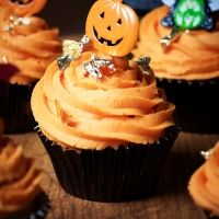 Our Spooky Halloween Cupcakes, which are also our October Recipe Club Competition Recipe!
